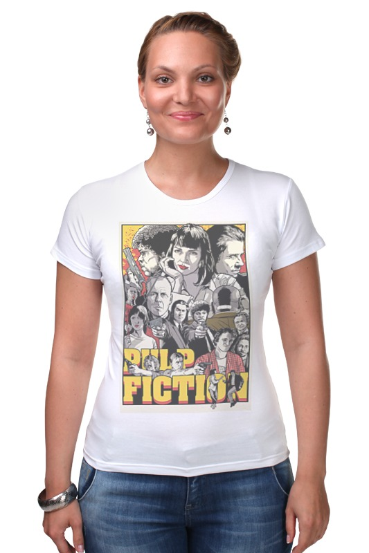 Футболка Стрэйч Printio Pulp fiction family multicultural questions family matters in contemporary fiction