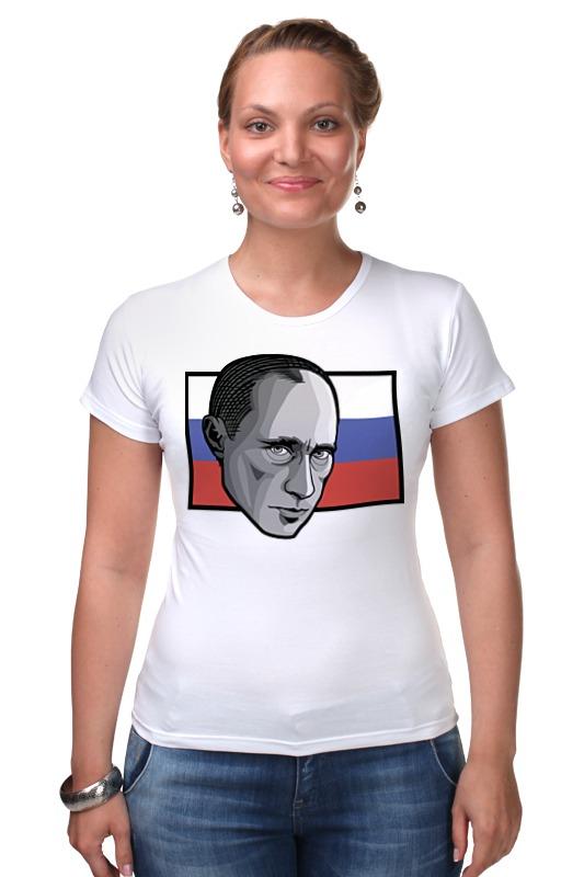 Футболка Стрэйч Printio Путин (россия) футболка стрэйч printio россия украина