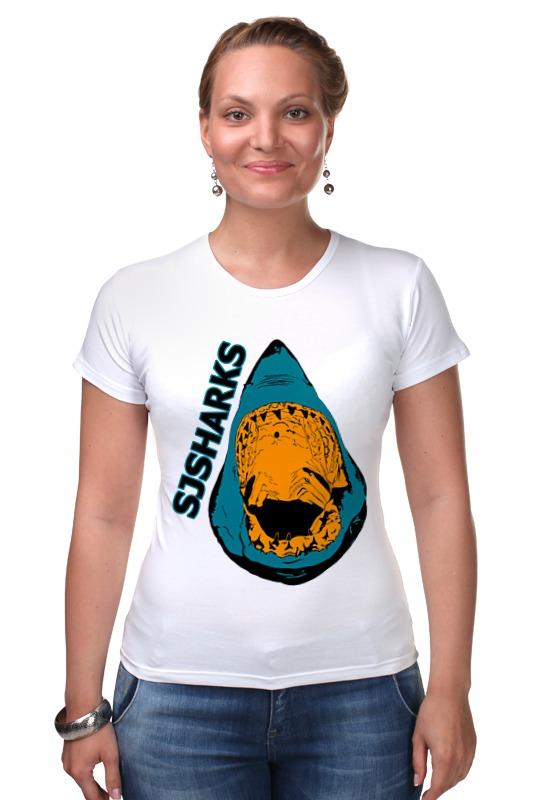 Футболка Стрэйч Printio San jose sharks сан-хосе шаркс майка классическая printio san jose sharks сан хосе шаркс