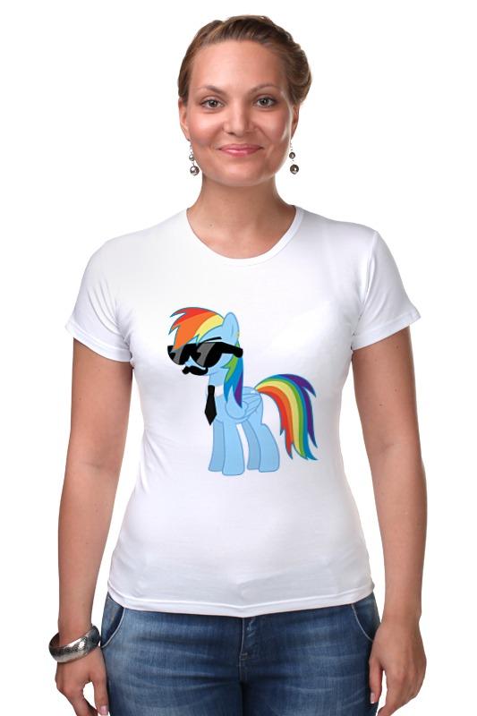 Футболка Стрэйч Printio My little pony - rainbow dash (радуга) хасбро hаsbro b3604 b8074 my little pony игровой мейнхеттен rainbow dash