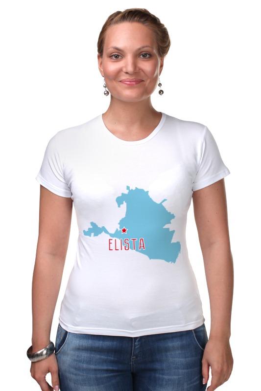 Футболка Стрэйч Printio Республика калмыкия. элиста футболка для беременных printio республика удмуртия ижевск