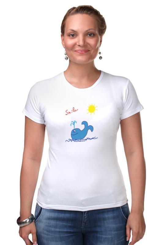 Футболка Стрэйч Printio Синий кит футболка рингер printio кит ричардс