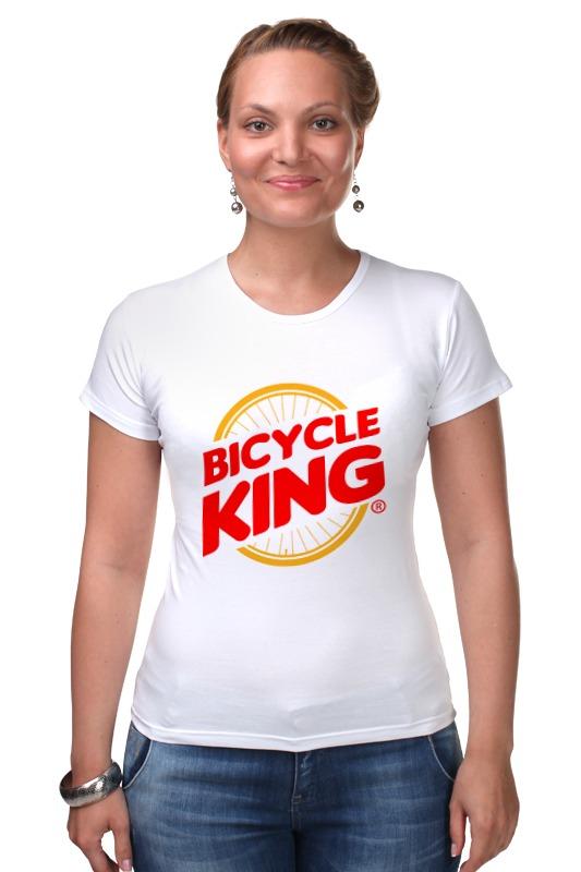 Футболка Стрэйч Printio Велосипедный  король deroace велосипедный цепной стальной замок для электрокара электро мотороллера мотора