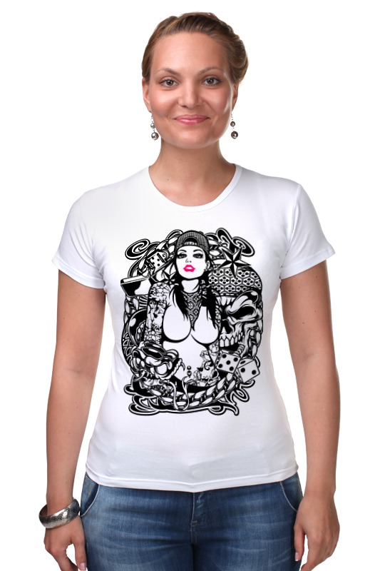 Футболка Стрэйч Printio Tatoo girl футболка для беременных printio tatoo girl