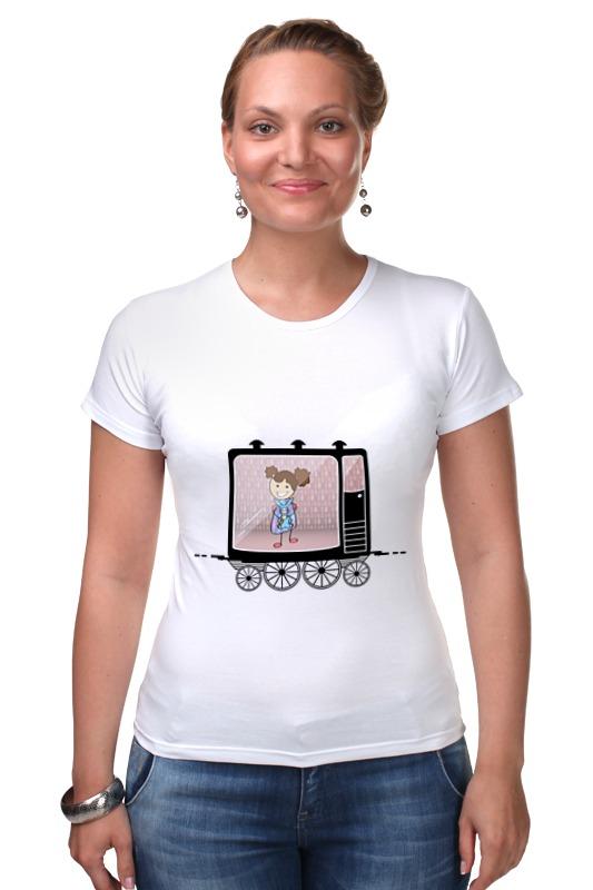 Футболка Стрэйч Printio Девочка в вагоне поезда футболка стрэйч printio 62 2% в саратове