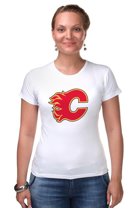 Футболка Стрэйч Printio Calgary flames / nhl canada универсальная вибрационная машина энкор мфэ 260 1 12 50271