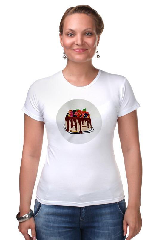 Футболка Стрэйч Printio Тортик футболка для беременных printio тортик