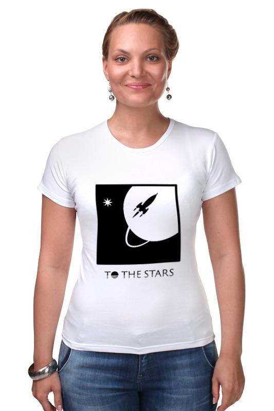Футболка Стрэйч Printio To the stars media julie e czerneda to trade the stars