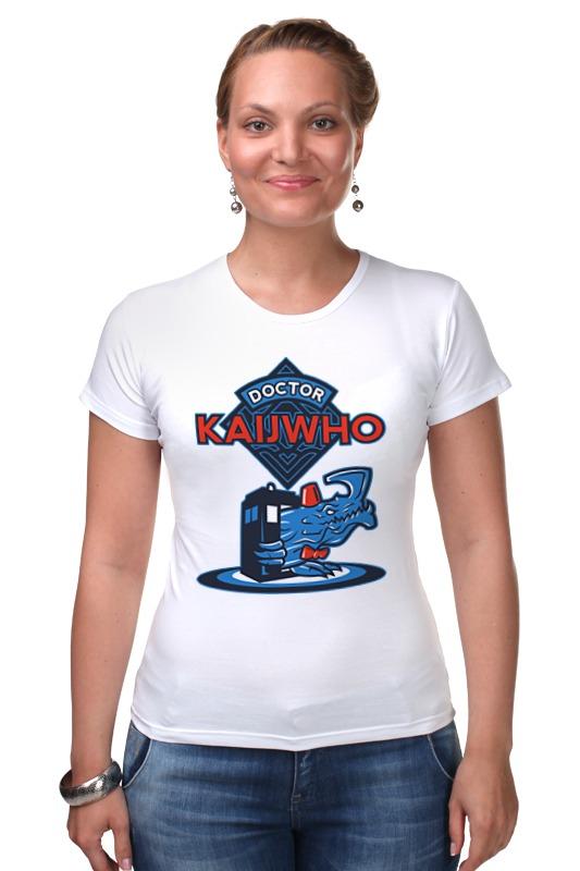 Футболка Стрэйч Printio Doctor who x kaiju майка классическая printio doctor who x kaiju