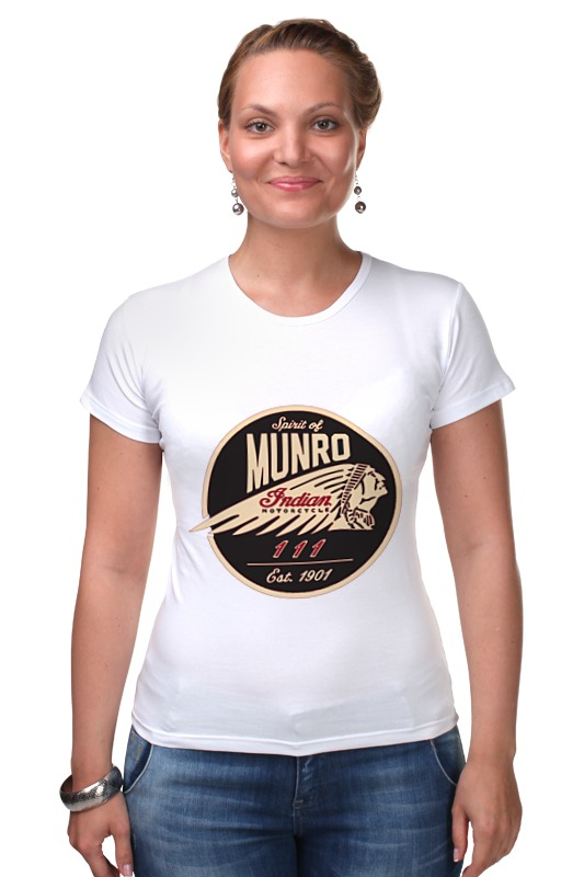 Футболка Стрэйч Printio The spirit of munro. indian free shipping 10pcs 100% new protel