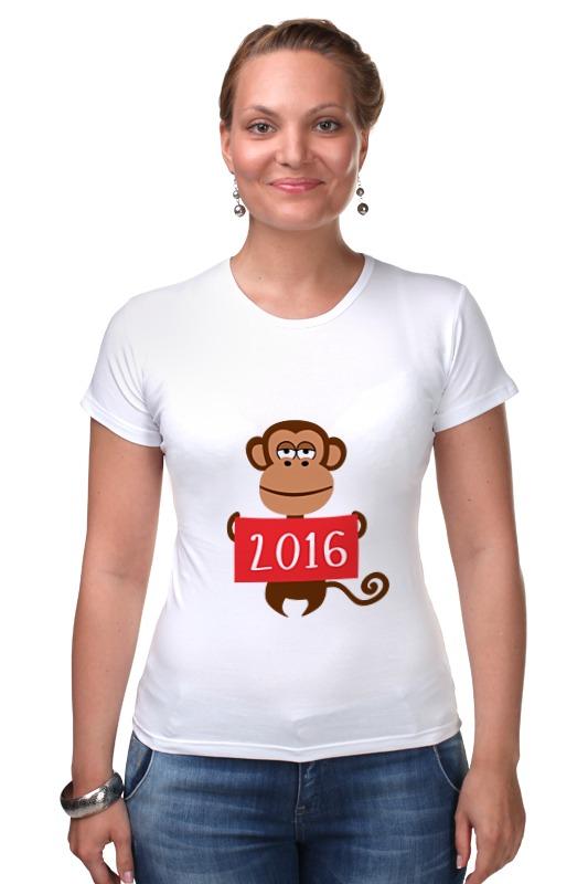 Футболка Стрэйч Printio Год обезьяны  2016