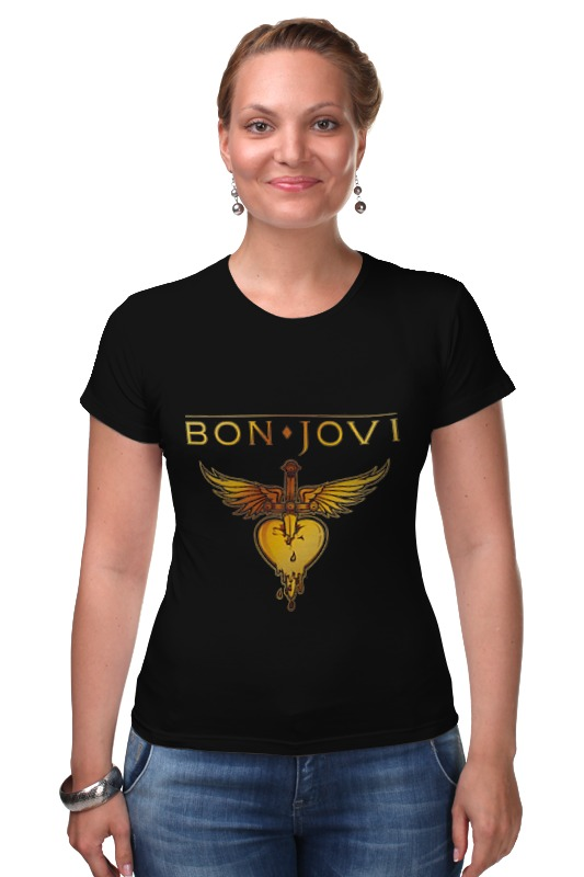 Футболка Стрэйч Printio Bon jovi bon jovi in their own words