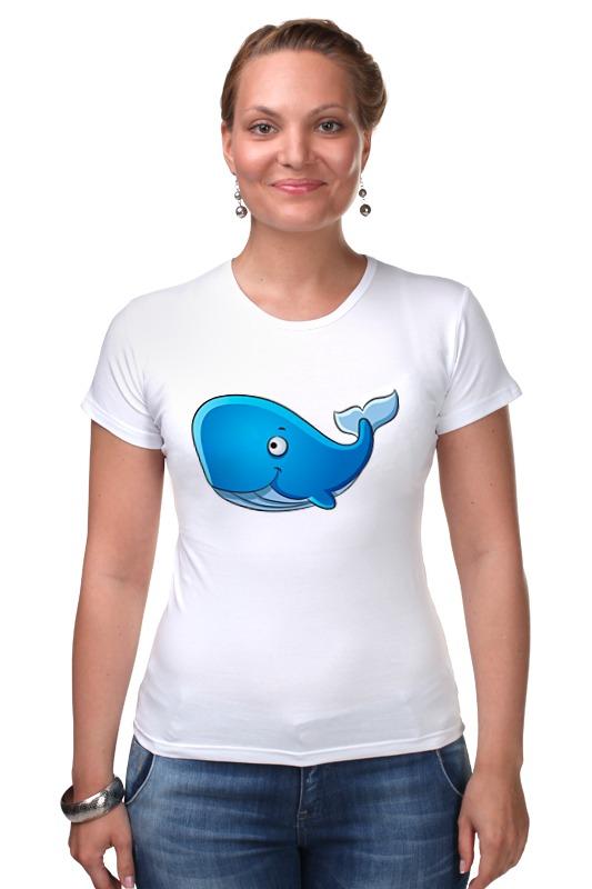 Футболка Стрэйч Printio Голубой морской кит-кашалот футболка wearcraft premium slim fit printio голубой морской кит кашалот