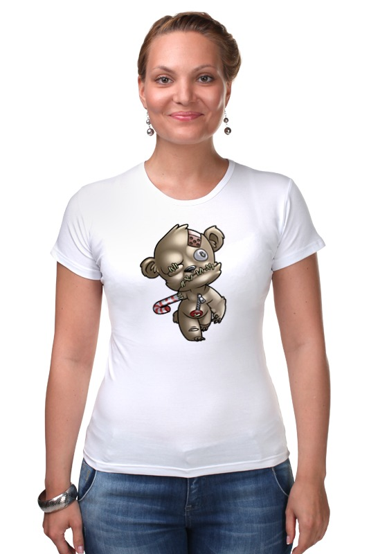 Футболка Стрэйч Printio Мишка зомби футболка для беременных printio мишка me to you