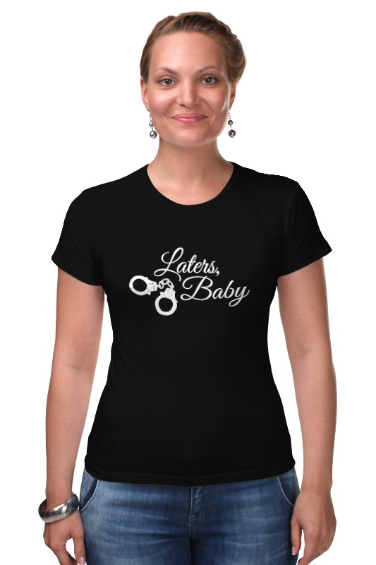Футболка Стрэйч Printio Laters, baby (50 оттенков серого) футболка для беременных printio keep calm until laters baby 50 оттенков серого