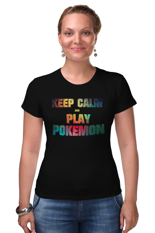 Футболка Стрэйч Printio Keep calm  and  play  pokemon футболка стрэйч printio keep calm and listen to 30stm