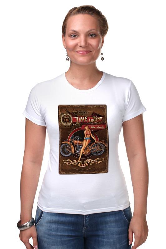 Футболка Стрэйч Printio Мотоциклы, винтажный постер. футболка стрэйч printio мотоциклы