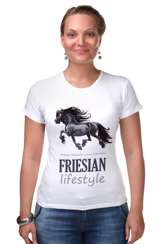 Футболка Стрэйч Printio Friesian lifestyle купить щебень на севере москвы