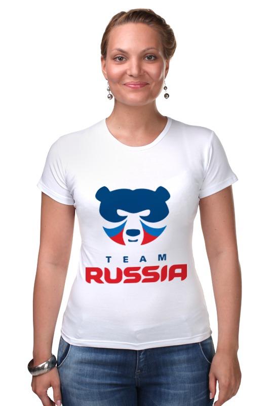 Футболка Стрэйч Printio Russia team футболка стрэйч printio born in russia рожден в россии