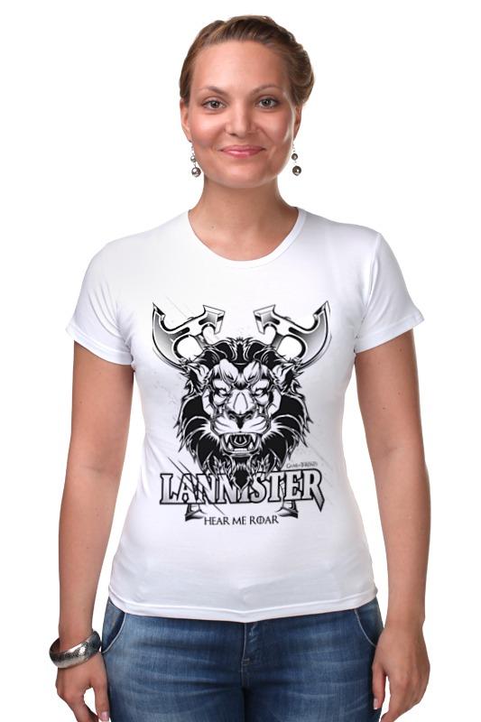 Футболка Стрэйч Printio Лев ланнистеров (игра престолов) футболка wearcraft premium printio игра престолов