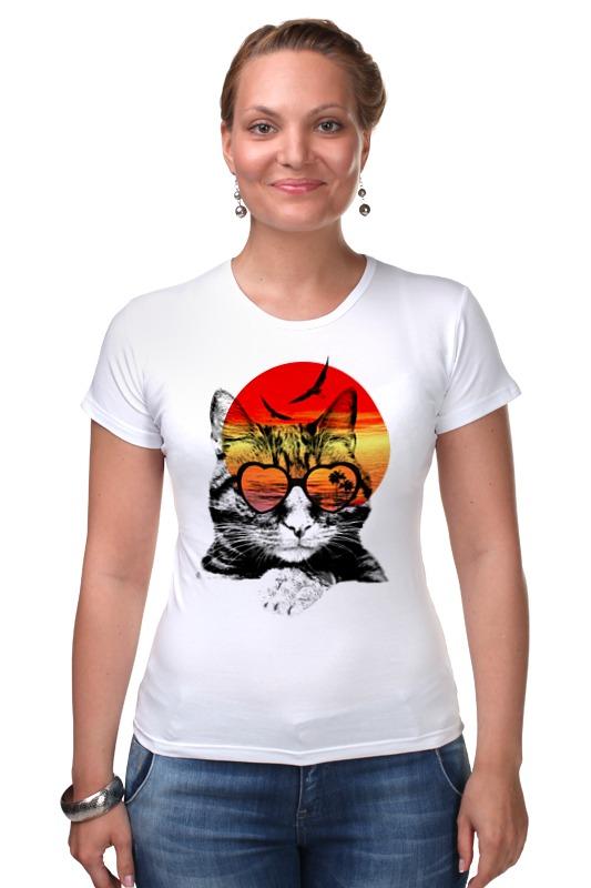 Футболка Стрэйч Printio Солнечный кот букет солнечный
