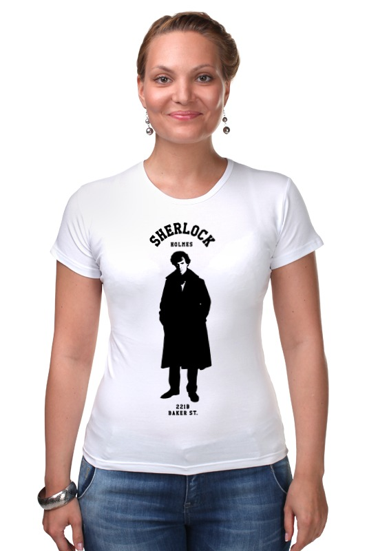 Футболка Стрэйч Printio Шерлок холмс (sherlock holmes) dayle a c the adventures of sherlock holmes рассказы на английском языке