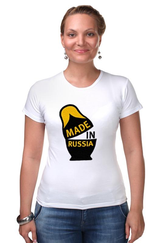 Футболка Стрэйч Printio Made in russia футболка стрэйч printio born in russia рожден в россии
