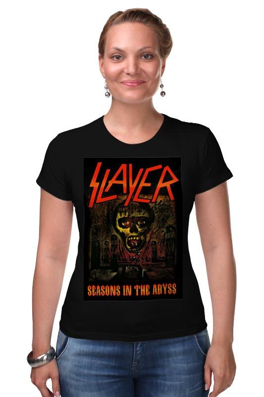 Футболка Стрэйч Printio Slayer-season in the abyss 1990 майка классическая printio slayer season in the abyss 1990
