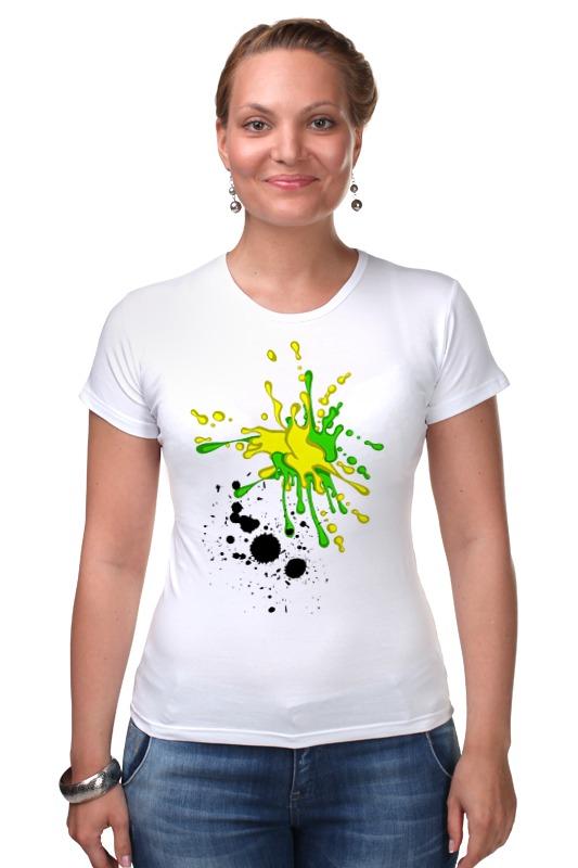 Футболка Стрэйч Printio Творческие кляксы футболка для беременных printio творческие кляксы