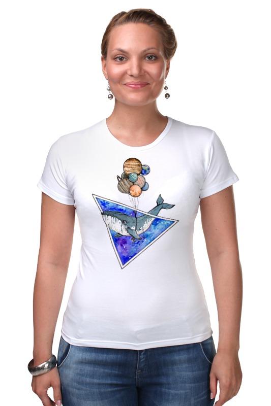 Футболка Стрэйч Printio Кит и планеты футболка wearcraft premium printio кит и планеты