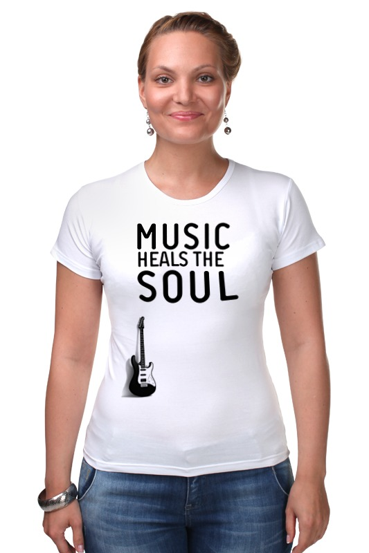 Футболка Стрэйч Printio Music heals the soul soul music