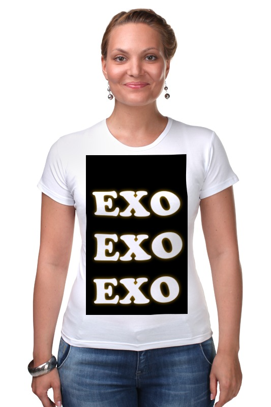 Футболка Стрэйч Printio Exo (xoxo) обувь на высокой платформе exo xoxo kris