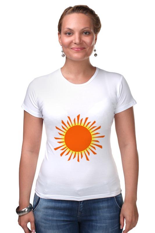 Футболка Стрэйч Printio Оранжевое солнце футболка wearcraft premium printio оранжевое солнце