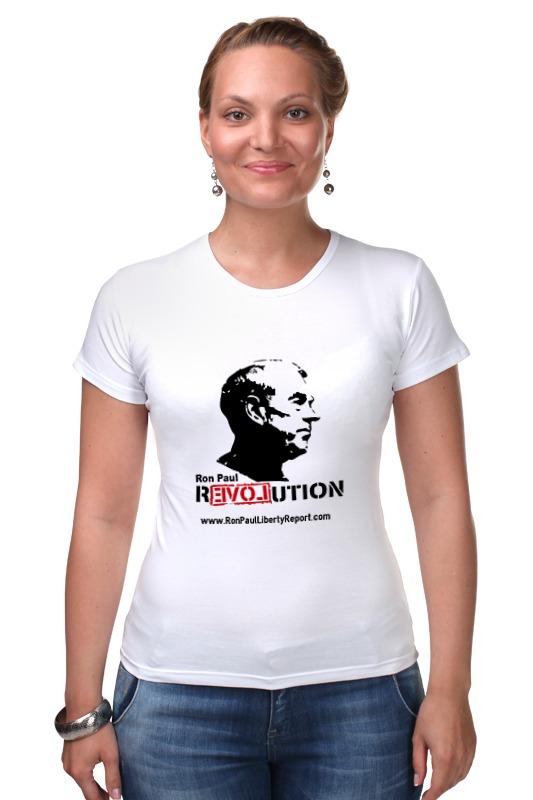 Футболка Стрэйч Printio Ron paul revolution paul lanjalley paul corriez histoire de la revolution du 18 mars