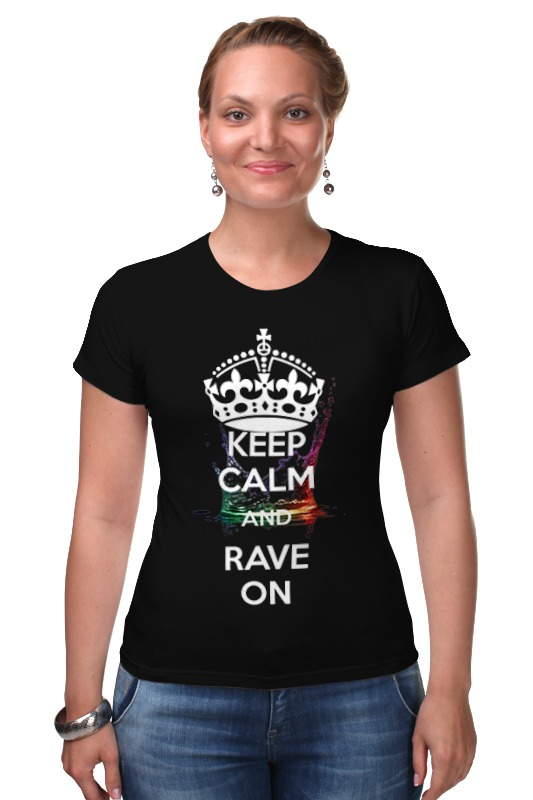 Футболка Стрэйч Printio Eat sleep rave repeat sleep футболка