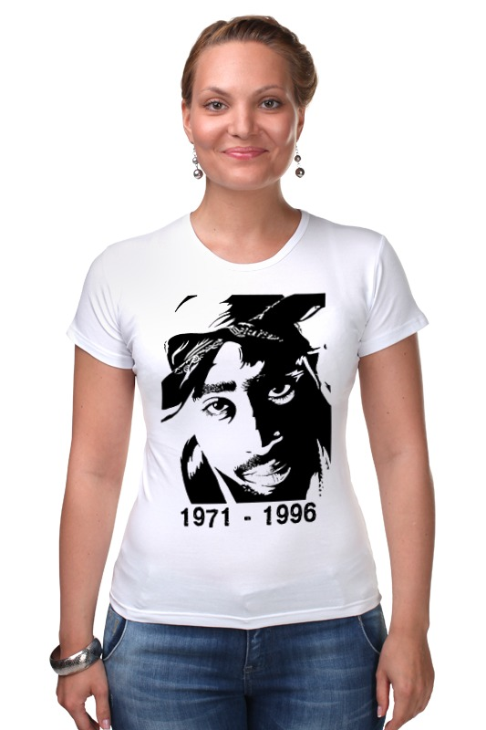 Футболка Стрэйч Printio 2pac 71-96 футболка классическая printio 62 2% в саратове
