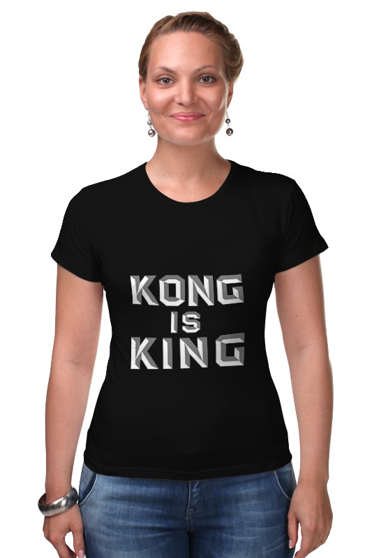 Футболка Стрэйч Printio Kong is king (кинг конг) лонгслив printio kong is king кинг конг