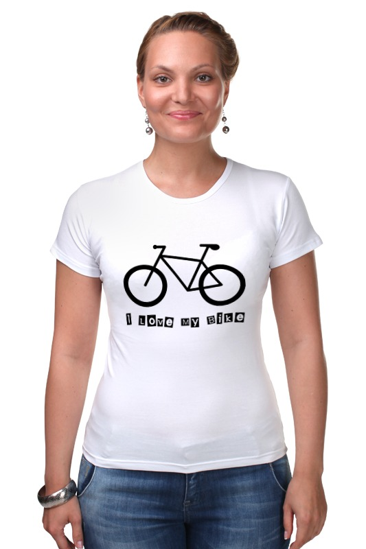 Футболка Стрэйч Printio I love my bike велосипед geuther велосипед my runner серо зеленый