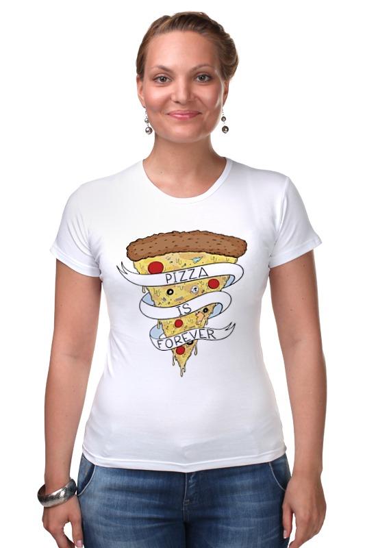 Футболка Стрэйч Printio Пицца навсегда (pizza forever) сумка printio пицца навсегда pizza forever