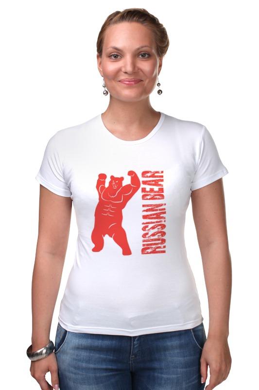 Футболка Стрэйч Printio Russian bear футболка для беременных printio putin love russian bear