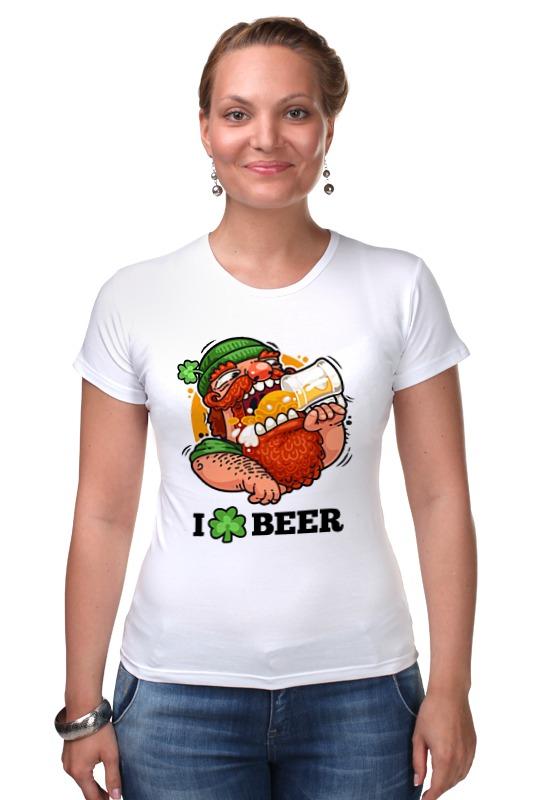 Футболка Стрэйч Printio Я люблю пиво (i love beer) я сбил целый авиаполк мемуары финского аса