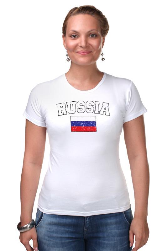 Футболка Стрэйч Printio Флаг - россия футболка классическая printio россия флаг герб 3