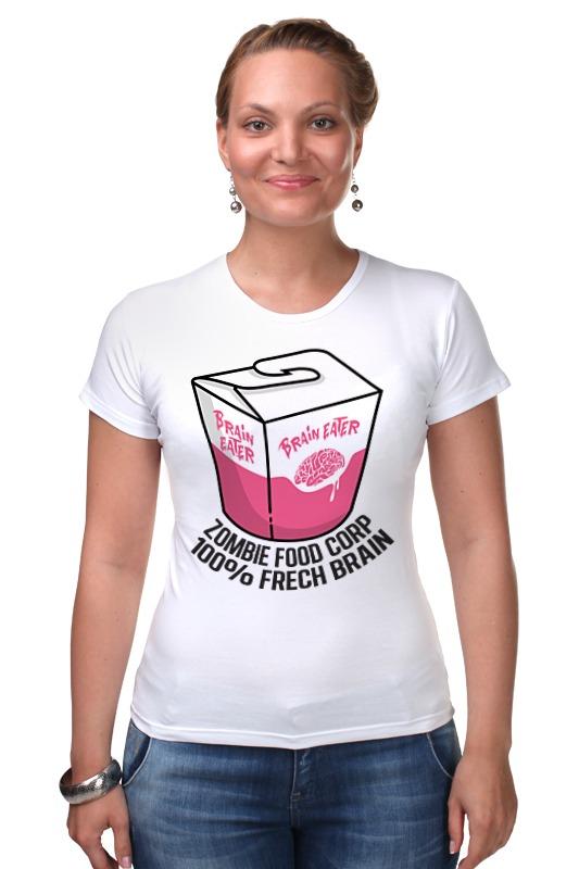Футболка Стрэйч Printio Еда для зомби 1050ml сова обед коробка бенто еда безопасный пластик еда пикник контейнер портативная коробка