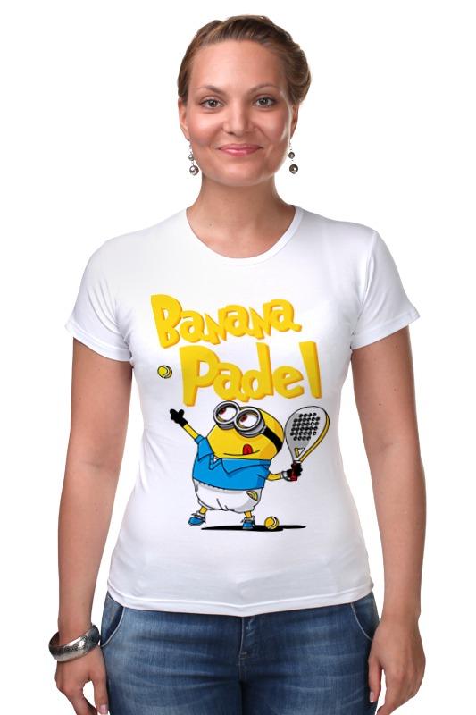 Футболка Стрэйч Printio Миньон (банана) футболка для беременных printio миньон  банана