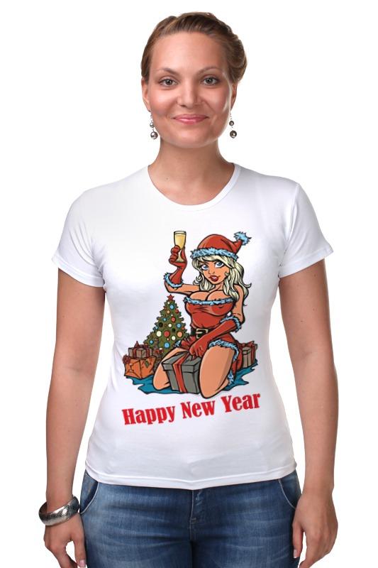 Футболка Стрэйч Printio Снегурочка поздравляет с новым годом! s s снегурочка