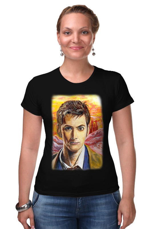 Футболка Стрэйч Printio Десятый доктор (tenth 10th doctor) футболка wearcraft premium printio десятый доктор tenth 10th doctor