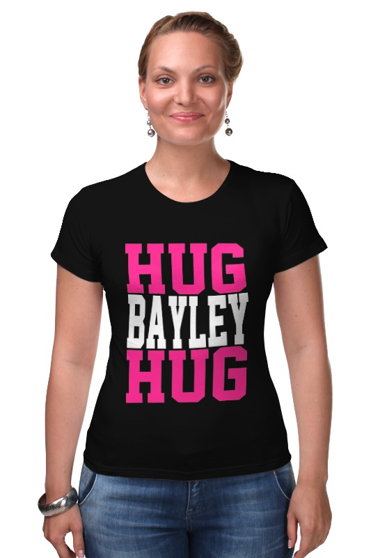 Футболка Стрэйч Printio Hug bayley hug (wwe) lovin hug