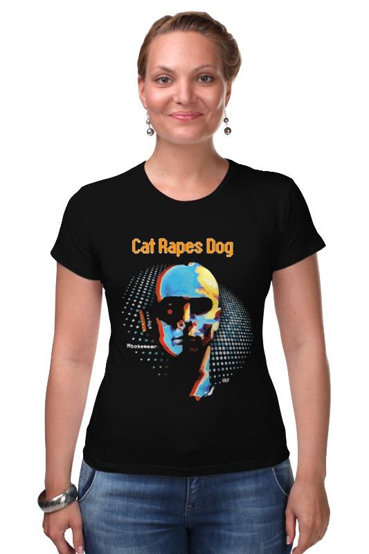 Футболка Стрэйч Printio Cat rapes dog \ moosewear veterinary and human 2 14g dl 1 000 1 060 ri dog 1 000 1 060 ri cat clinical dog and cats refractometer rhc 300atc