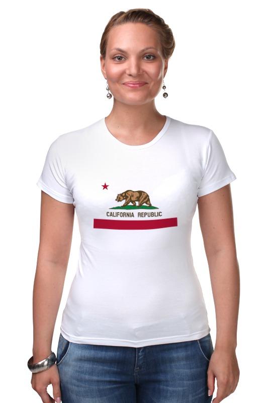 Футболка Стрэйч Printio Калифорния флаг футболка стрэйч printio штаты россии