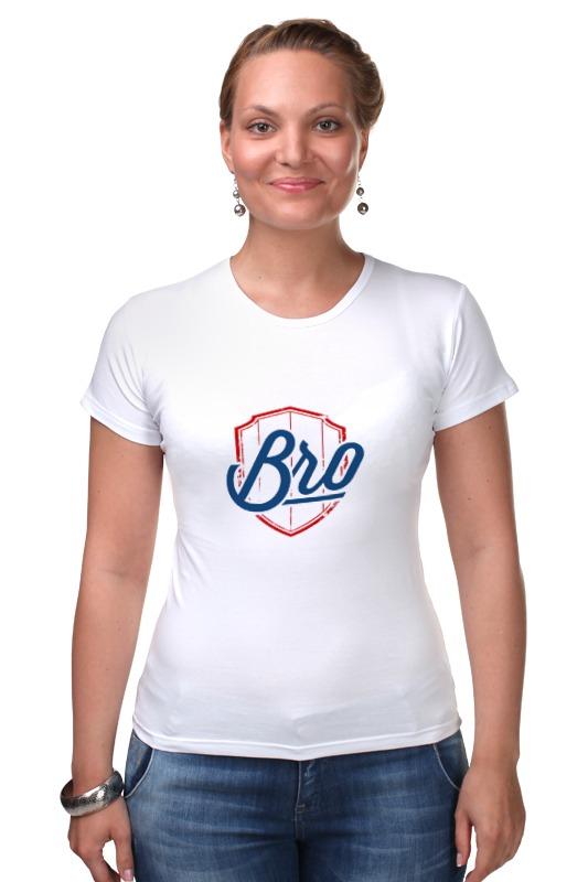 Футболка Стрэйч Printio Bro - для тех, кто в теме футболка рингер printio bro для тех кто в теме